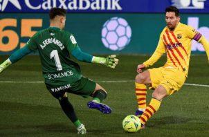 Messi, figura del Barcelona. Foto:EFE