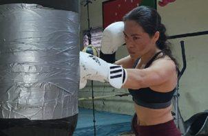 """Yaditza """"La Tigrilla"""" Pérez en sus entrenamientos en Chiriquí. Foto:Cortesía."""