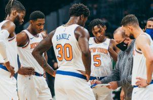 Jugadores de los Knicks de Nueva York. Foto:@nyknicks