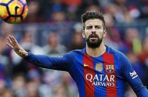 Gerard Piqué, defensa central del Barcelona. Foto:EFE