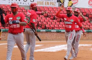 Jugadores del equipo panameño en la Serie del Caribe. Foto:EFE