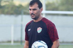 Patricio Sampó en los entrenamientos de Chiriquí. Foto:@Atle_Chiriquí