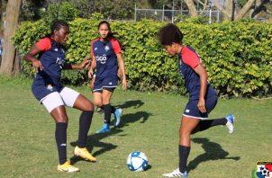 Jugadoras del seleccionado femenino panameño. Foto: Fepafut