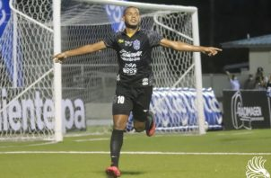 Rafael Águila, anotó el gol del triunfo para el CAI de La Chorrera. Foto:@LPF