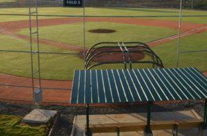 Vista de las instalaciones de la academia de béisbol en República Dominicana.