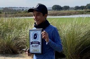 Diego Álvarez es una promesa del golf panameño. Foto:Cortesía
