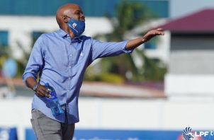 Jorge Dely Valdés técnico de Plaza Amador expresó que por más que gritó, no se hizo el trabajo. Foto:@LPF