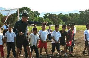Hay pocas carreras en la comarca, pero existe mucho entusiasmo de los pequeños en participar. Cortesía