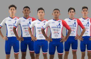 Selección panameña de ciclismo junior. Foto: Cortesía