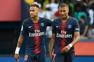 Neymar y Mbappé esperan llevar al PSG a la final.   Foto:EFE