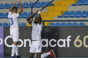 Óscar Hinks celebra el gol que anotó a México en la ronda regular. Foto:@Concacaf