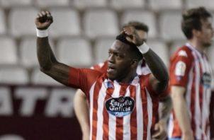 José Luis 'Puma' Rodríguez anotó para el Lugo. Foto:@CDeportivoLugo