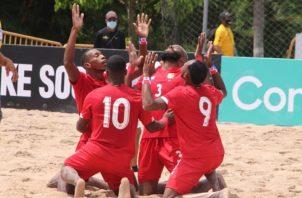 Jugadores del equio panameño. Foto:Fepafut