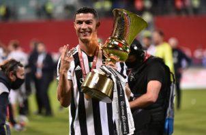 Cristiano Ronaldo festeja con la Juventus. Foto:EFE