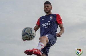 Andrés Andrade se incorporó a los entrenamientos del elenco nacional, ayer. Foto:Fepafut