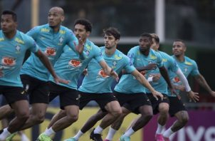 Jugadores de Brasil en los entrenamientos con miras al partido contra Paraguay. Foto: @CBF_Futebol