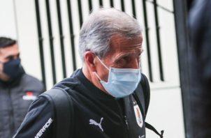 El entrenador uruguayo, Óscar Washington Tabárez. Foto:EFE