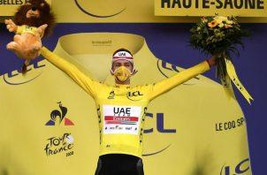 El esloveno Tadej Pogacar es el actual campeón del Tour de Francia. Foto:EFE