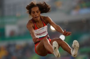 La saltadora colonense Nathalee Aranda. Foto:Twitter