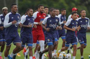 Jugadores de la selección de fútbol playa de Panamá. Foto:Fepafut