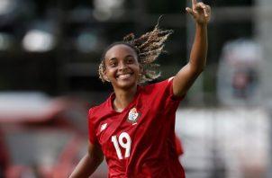 Lineth Cedeño, jugadora del equipo panameño. Foto:EFE