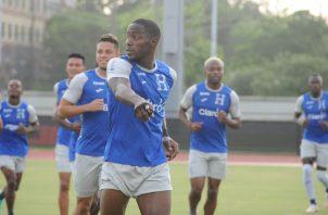 Jugadores de Honduras en los entrenamientos.  Foto:EFE