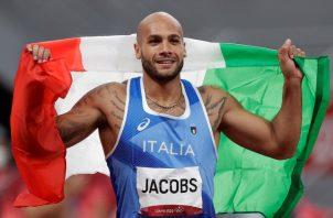 Italiano Lamont Jacobs. Foto:EFE