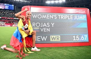 La venezolana Yulimar Rojas. Foto:EFE