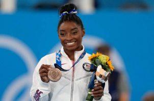 Simone Biles, ganó bronce para Estados Unidos. Foto:EFE