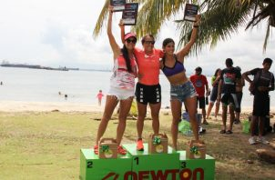 María Florencia Fraga (c), Daniela Araujo (izq.) y Katherine Fernandez, hicieron podium en la competencia. Cristian Howell