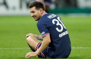 Lionel Messi debuta con el PSG de Francia en un partido contra Stade Reims. Foto:EFE