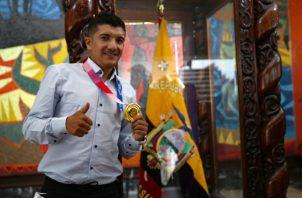 Richard Carapaz ganó el oro olímpico en los Juegos de Tokio 2020. Foto.EFE
