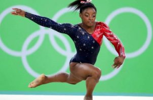 Gimnasta estadounidense Simone Biles. Foto.EFE