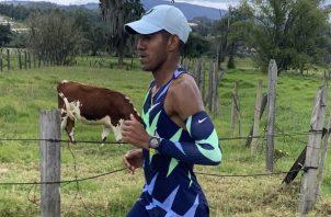 Jorge Enrique Castelblanco, regresa a Paipa, Colombia a entrenar el 1 de noviembre de 2021. Cortesía