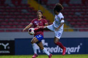 Marta Cox anotó el gol del triunfo ante las ticas. Foto:Fepafut