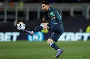 Leo Messi, capitán de Argentina. Foto:EFE