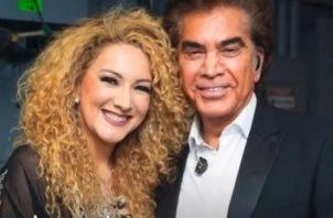 Erika Ender y José Luis Rodríguez. Instagram