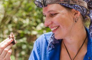 La becaria posdoctoral Tupper, Inga Geipel.  Claudia Rahlmeier/STRI