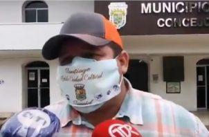 El alcalde del distrito de Santiago, Samid Sandoval, dijo que tomó la medida de mantener en vigencia la Ley Seca por el bien de todos los santiagueños.