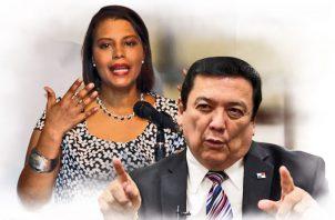 Fiscal Zuleyka Moore y Eduardo Ulloa, procurador general de la Nación.