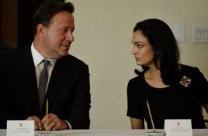 Juan Carlos Varela e Isabel de Saint  Malo gobernaron en Panamá en el periodo 2014-2019. Foto: Archivo