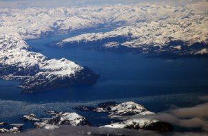 El deshielo de un glaciar podría provocar un deslave en Prince William Sound. Foto / Jim Wilson/The New York Times.