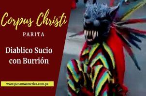 Diablico Sucio con Burrión de Parita.