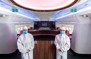 Qatar Airways anunció que introduciría medidas de seguridad adicionales para pasajeros y tripulación. Foto / Qatar Airways.