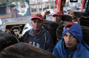 Las autoridades panameñas y costarricenses apoyaron a los nicaragüenses con una caravana humanitaria. FOTO/EFELas autoridades panameñas y costarricenses apoyaron a los nicaragüenses con una caravana humanitaria. FOTO/EFE