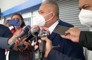 Roniel Ortiz acudió al MInisterio Público este viernes.