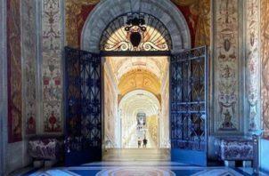 Foto a lo interno de los Museos del Vaticano. Foto: @a_day_inthelife