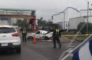 El vehículo era hurtado.