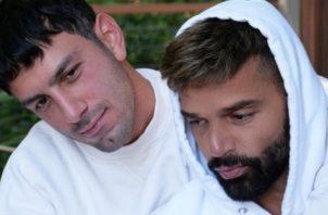 Ricky Martin y su esposo. Instagram