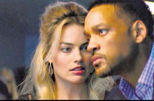 Will Smith y Margot Robbie protagonizaron la película Focus: Maestros de la estafa. Foto: Archivo